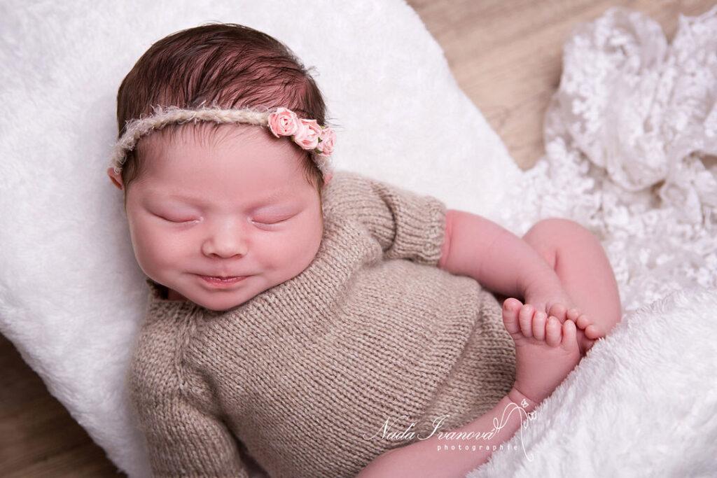 photographe montpellier bébé qui sourie