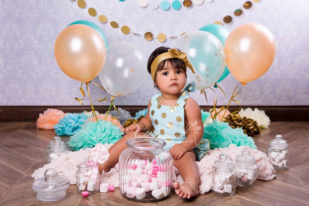 photo bébé avec ballon