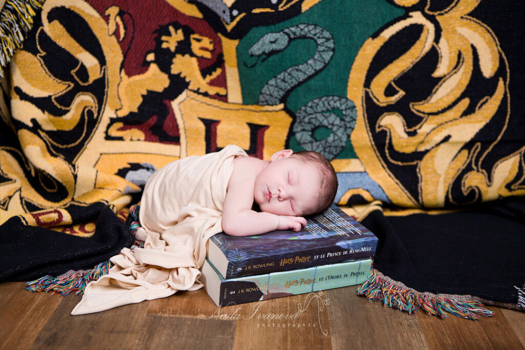 photo de bebe a agde par la photographe nada ivanova decord harry potter